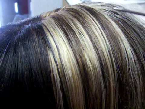 black hair lowlights. Dark and Light hair Mixed