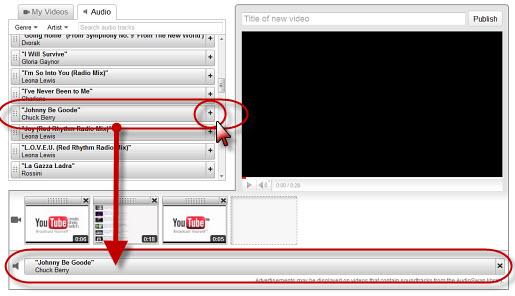 screenshot of YouTube editor
