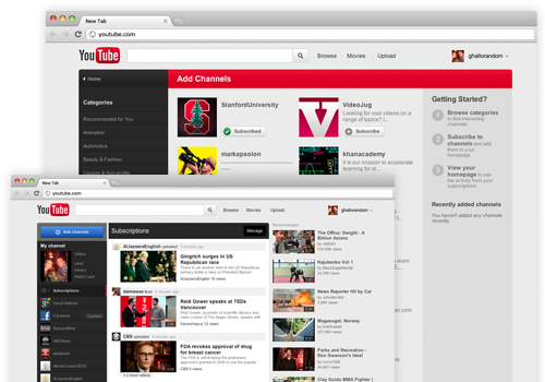 YouTube Personalized Bar
