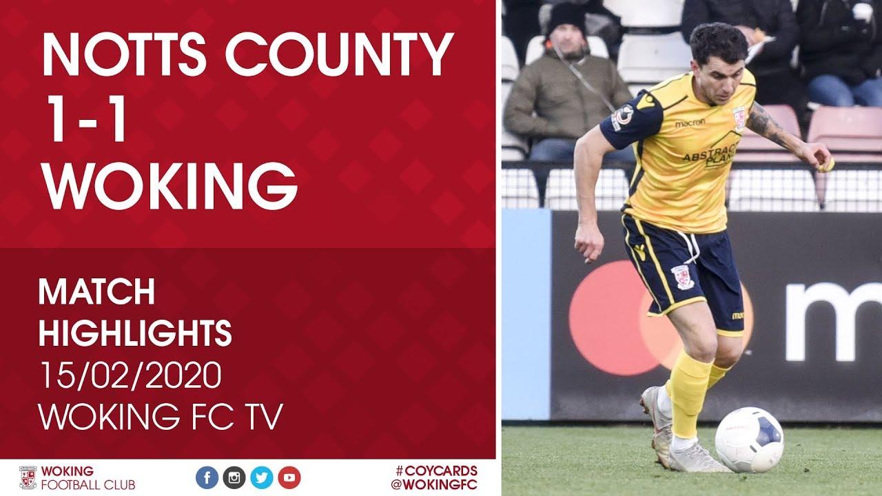 Notts County 1 - 1 Woking