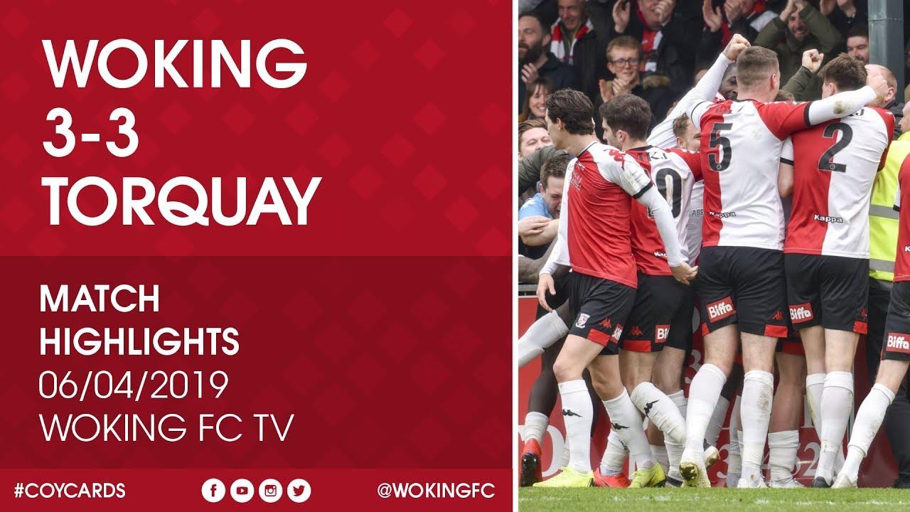 Woking 3 - 3 Torquay United