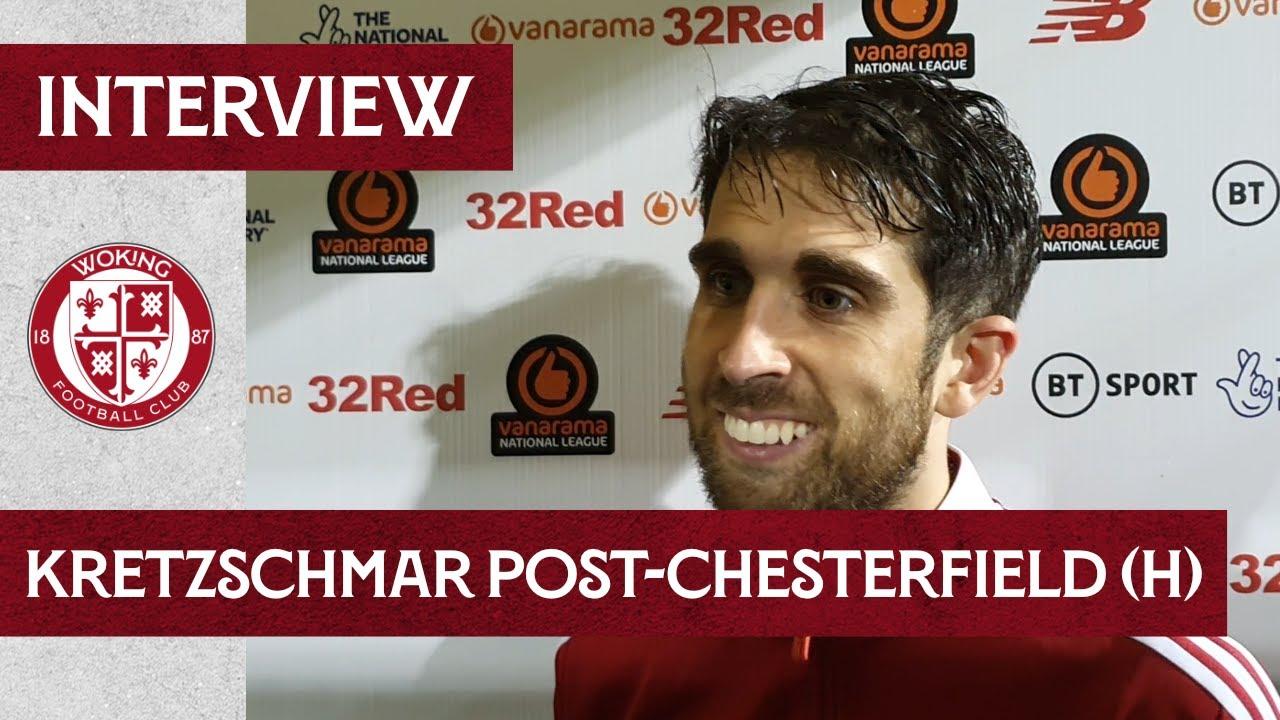Woking 3 - 1 Chesterfield | Max Kretzschmar Interview