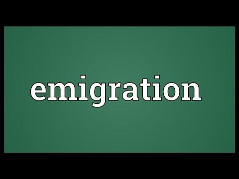 Emigration Meaning