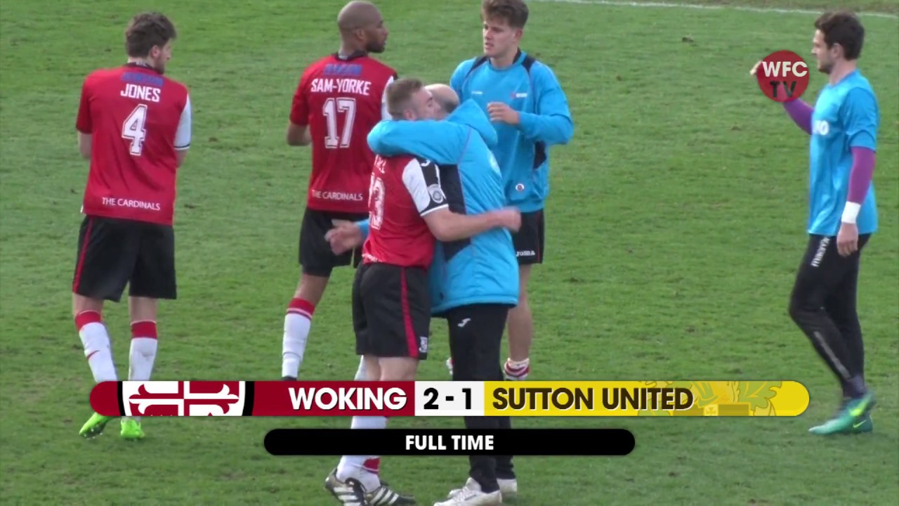 Woking 2 - 1 Sutton United