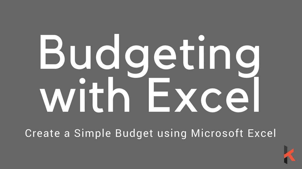 Creating a Simple Budget with Microsoft Excel