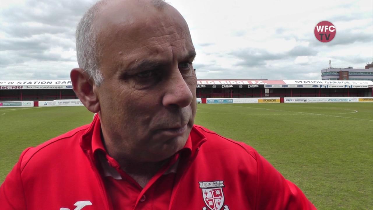 Dagenham and Redbridge 1 - 1 Woking (Garry Hill Interview)