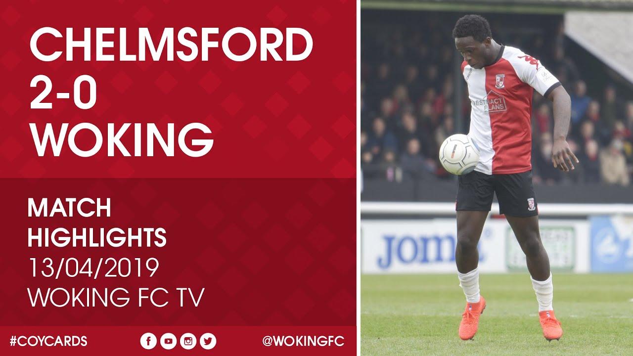 Chelmsford City 2 - 0 Woking