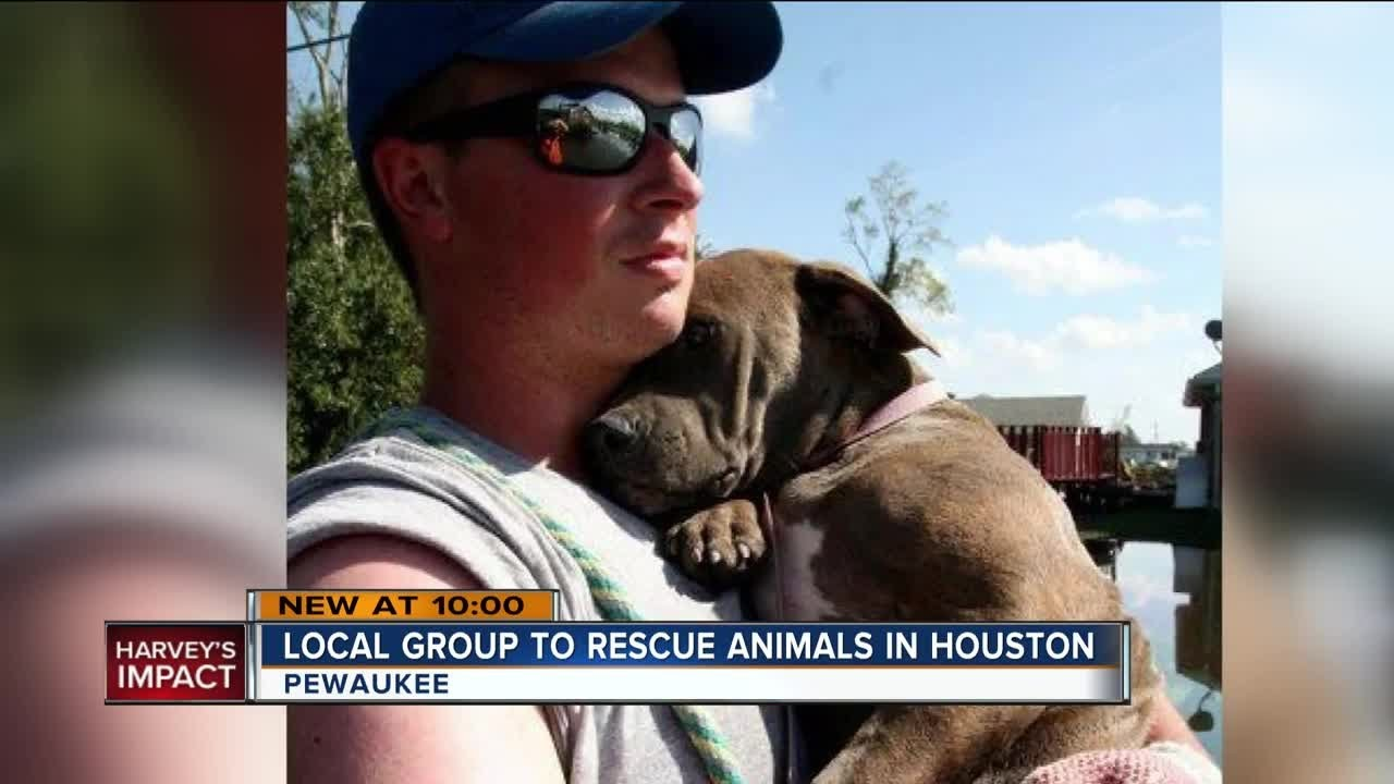 Local animal rescue group heads to Houston