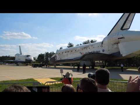 20120419 Discovery Moving in New Home at Air & Space Museum, VA - Pt 1