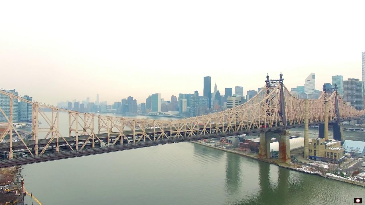 Queensboro Bridge Manhattan New York Phantom 3 Drone
