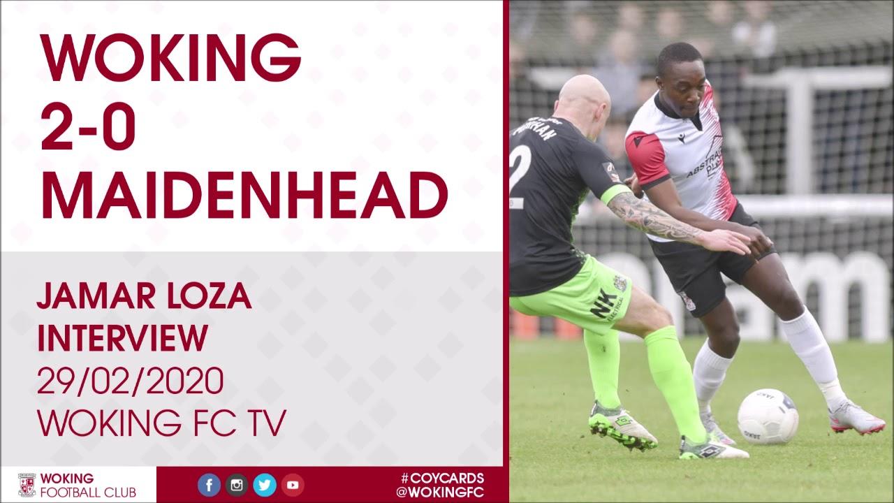 Woking 2 - 0 Maidenhead United | Jamar Loza Interview
