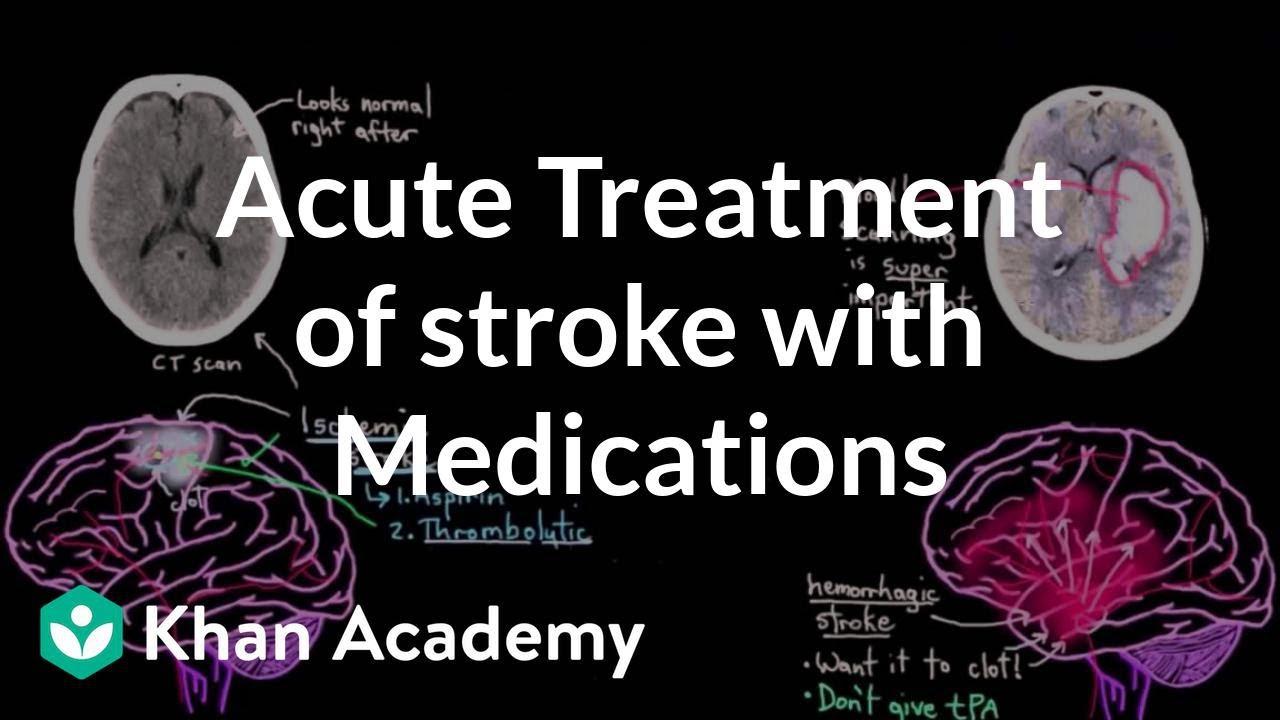 Acute treatment of stroke with medications | NCLEX-RN | Khan Academy