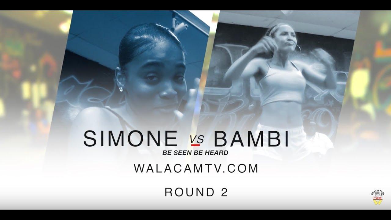 Walacamtv ITS ON!! RD2 BAMBIE VS SAMONE  @ FINAL PHAZE/ DA WARZONE!!
