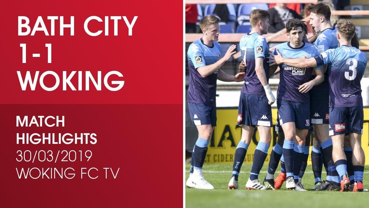 Bath City 1 - 1 Woking