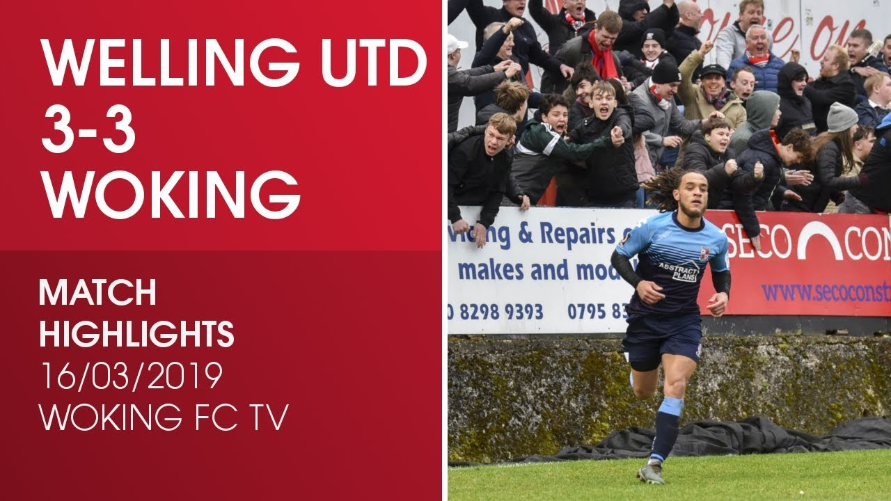 Welling United 3-3 Woking