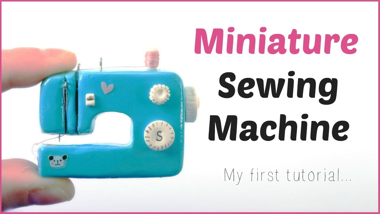 DIY Miniature doll Sewing Machine | How to Make Doll Sewing Machine | dollhouse DIY