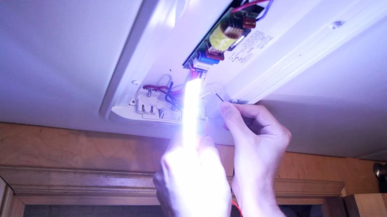 HOW TO: Convert Fluorescent RV Lights to LEDs