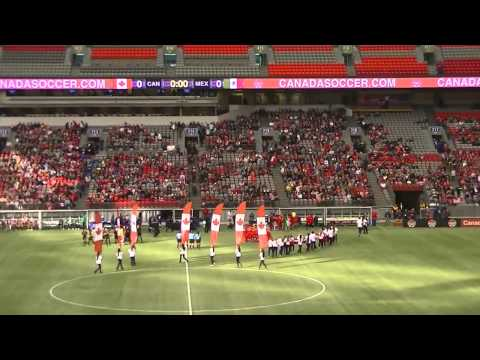 Canada vs Mexico in Vancouver BC Place Stadium