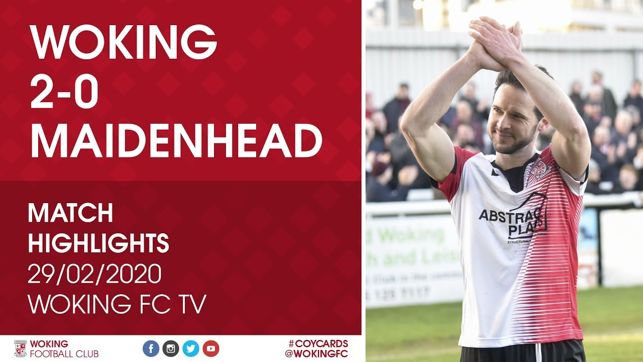Woking 2 - 0 Maidenhead United