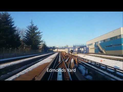Vancouver SkyTrain Expo Line from Production Way University to Waterfront