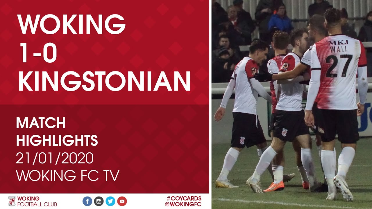 Woking 1 - 0 Kingstonian
