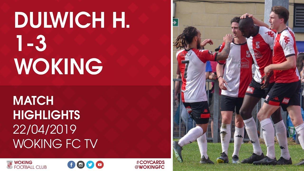 Dulwich Hamlet 1 - 3 Woking