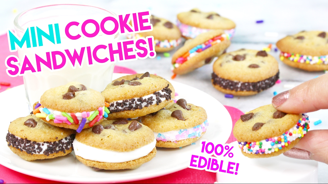How to Make MINI Cookie Sandwiches in an Easy Bake Oven!
