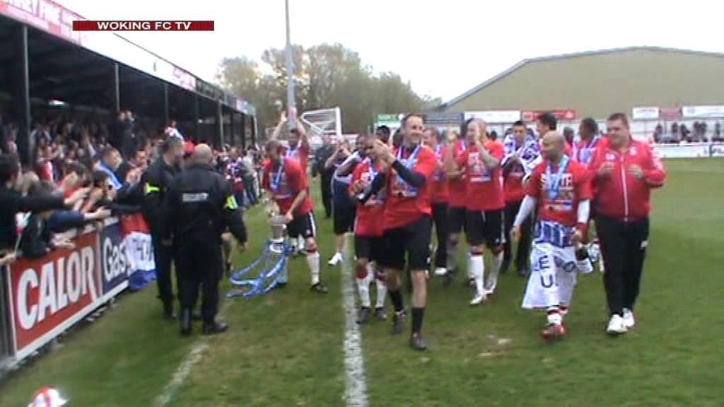 Woking 3-3 Truro City (Post Match Celebrations)
