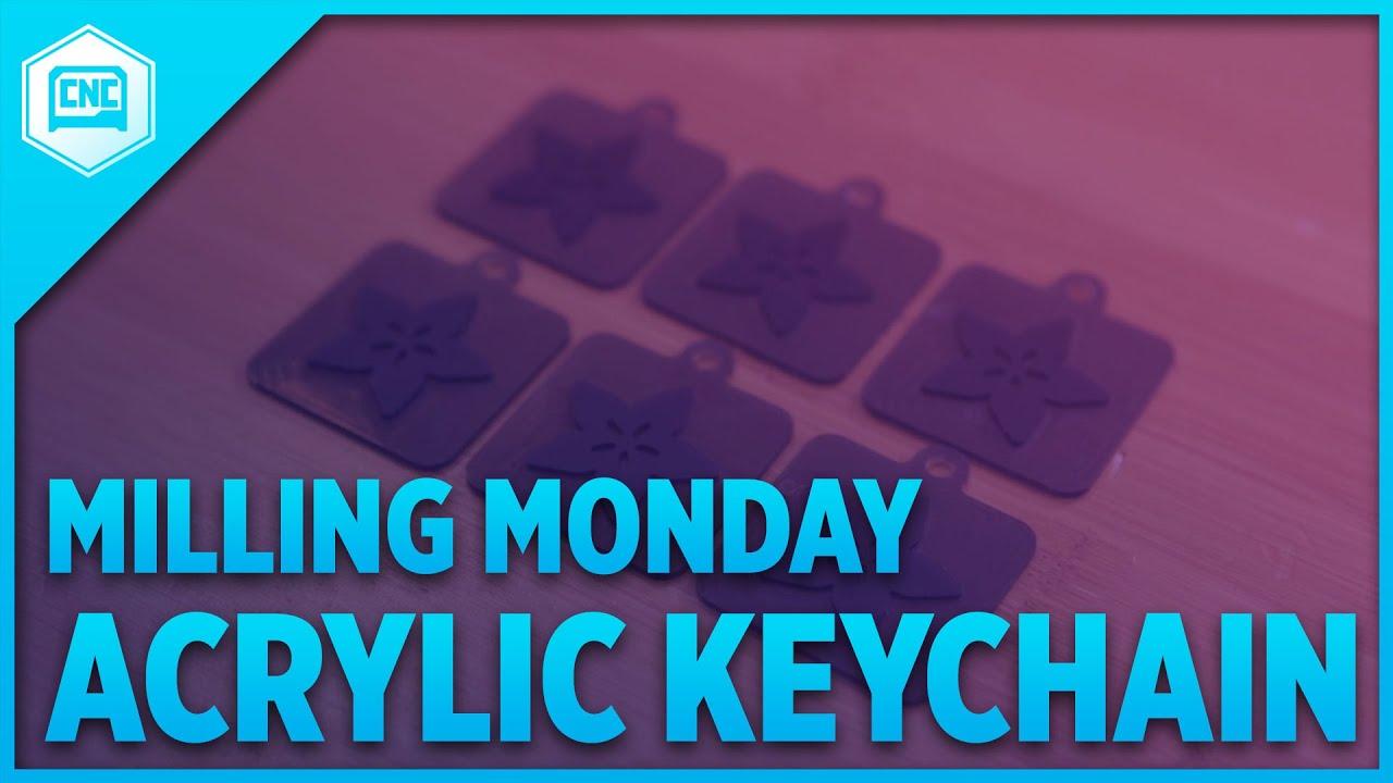 Acrylic Keychain @othermachine #MillingMonday #CNC