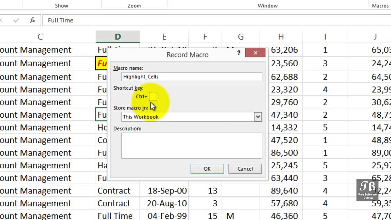 Creating Simple Excel Macro   Excel 2013 Beginners Tutorial