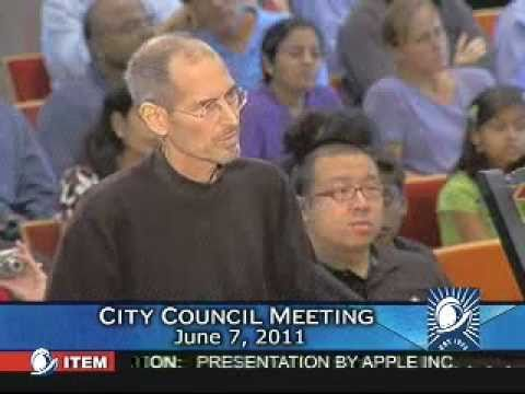 Steve Jobs Presents to the Cupertino City Council  (6/7/11)