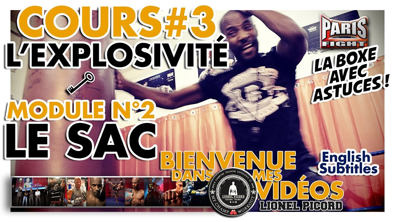 BOXE COURS N°3 : L'EXPLOSIVITÉ par LIONEL PICORD - (English Subtitles) BDMV !!!!