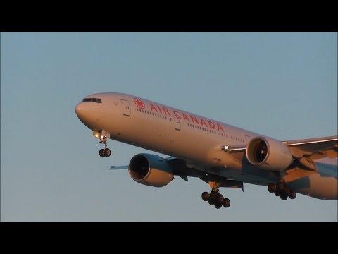 Vancouver International Airport Spotting ✈ Beautiful Sunset Arrivals