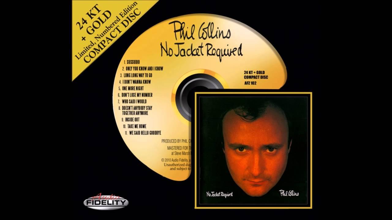 'Inside Out': Phil Collins - No Jacket Required (1985) (Steve Hoffman Remastered / 2011)
