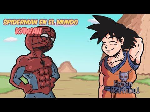 Spiderman en el Mundo Kawaii