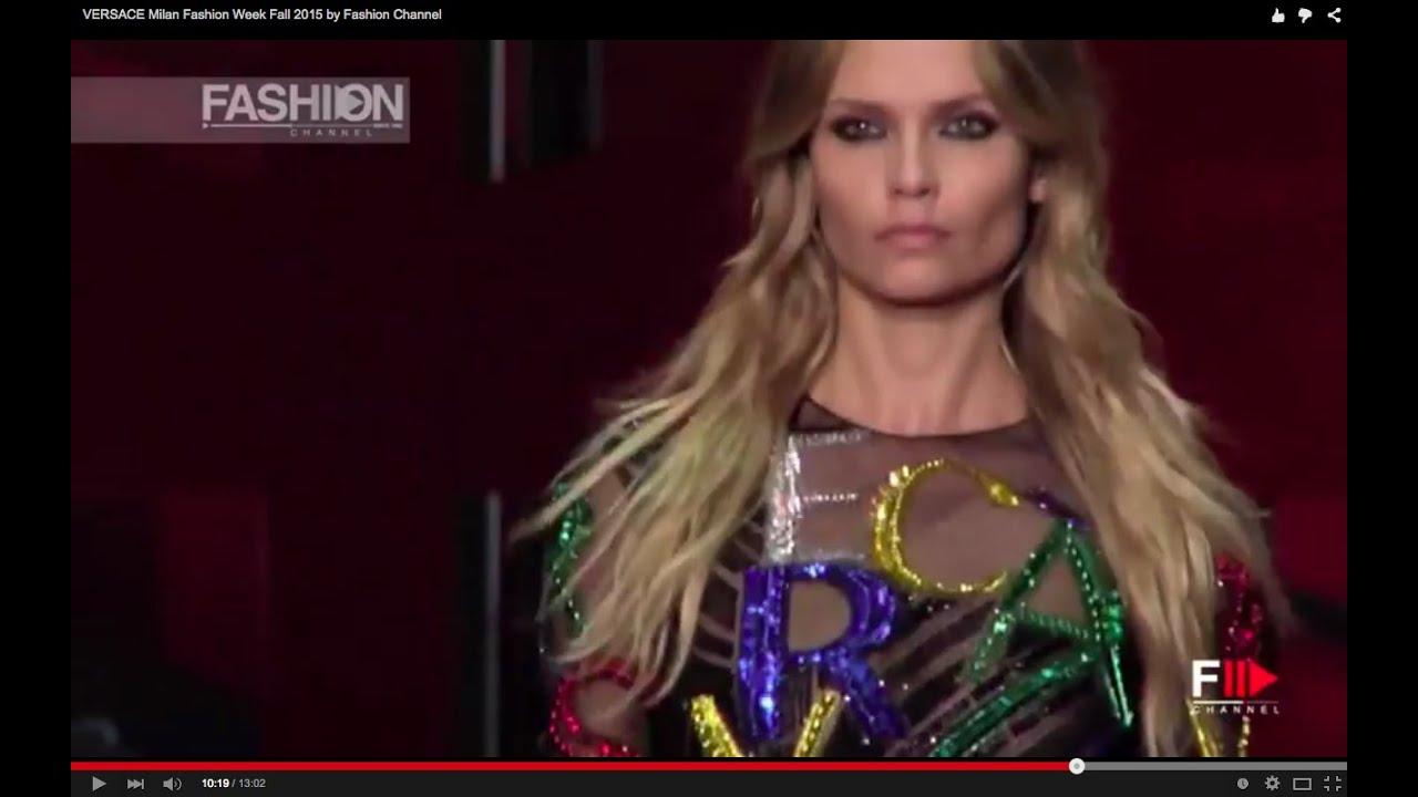 VERSACE Milan Fashion Week Fall 2015 by Fashion Channel