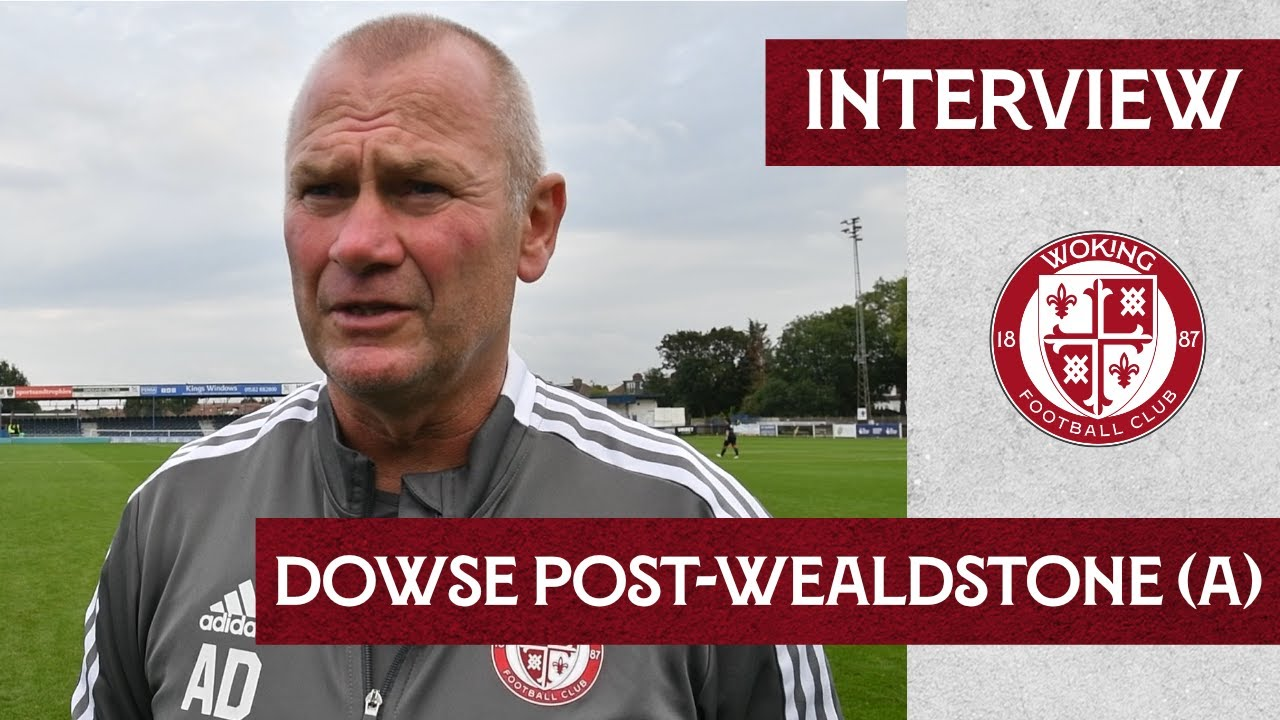 Wealdstone 1 - 2 Woking | Dowse Interview
