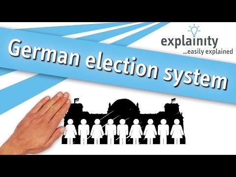 German election system / Bundestagswahl easily explained (explainity® explainer video)