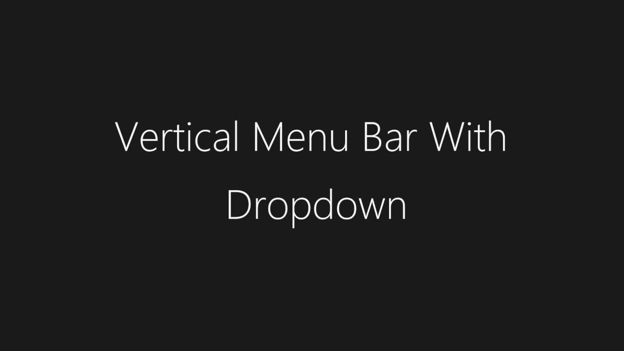 Vertical Menu Bar With Dropdown | HTML & CSS - TheMindSpeaks