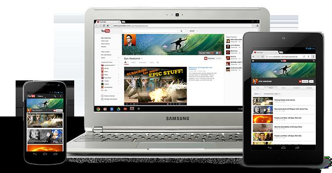 Beispielhafte Darstellung YouTube OneChannel Design